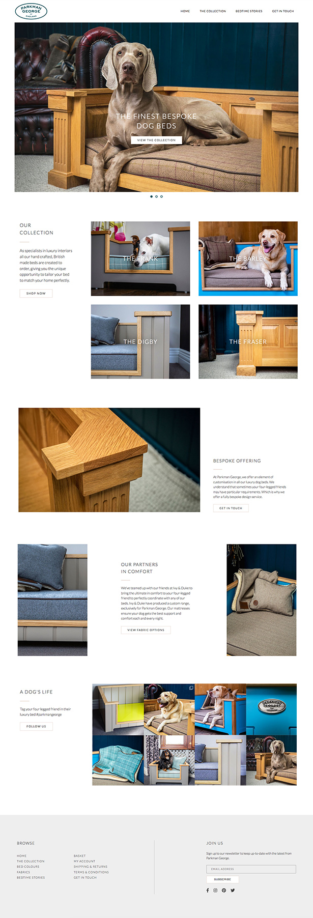 Parkman George Website Design