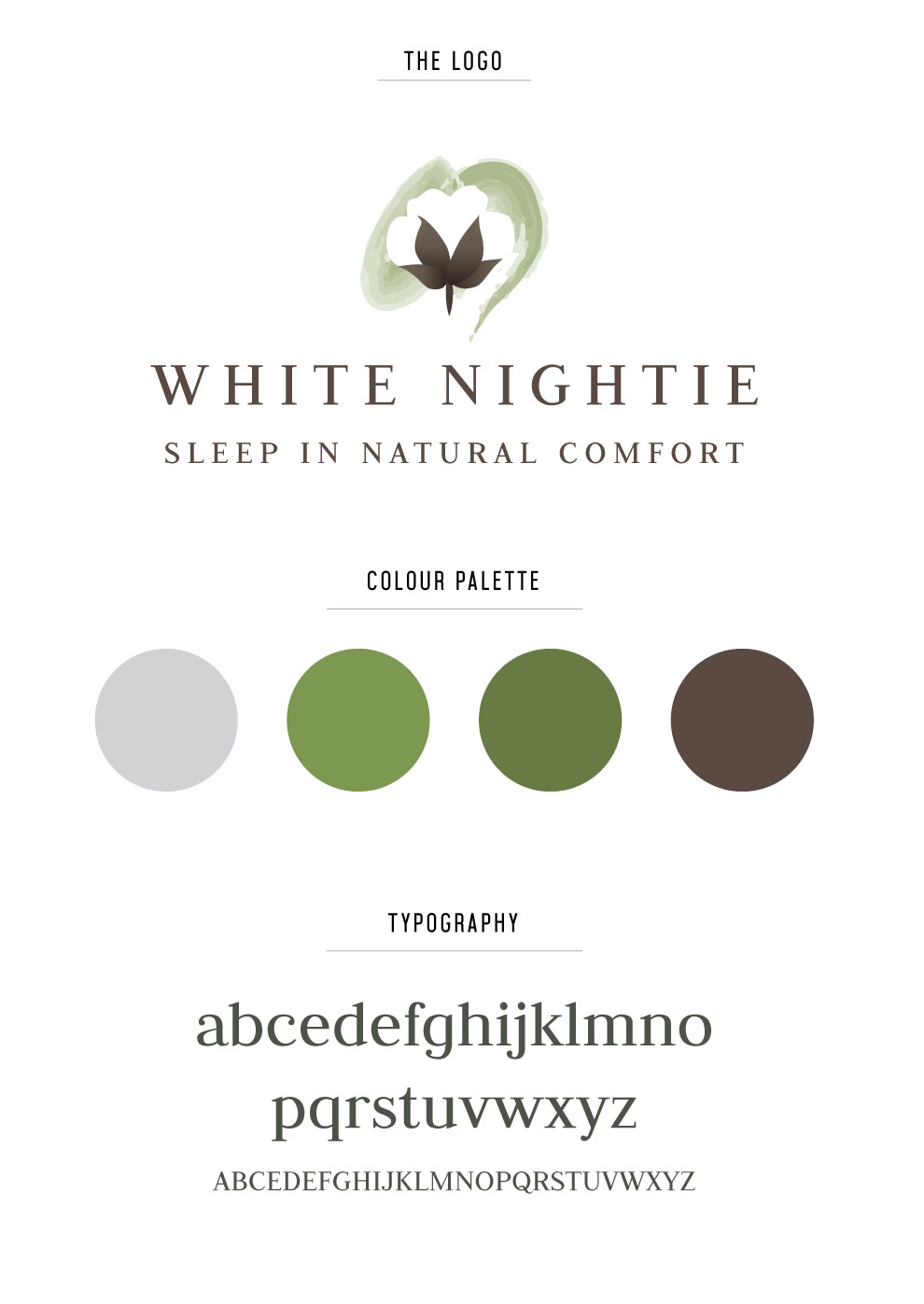 White Nightie Logo Design