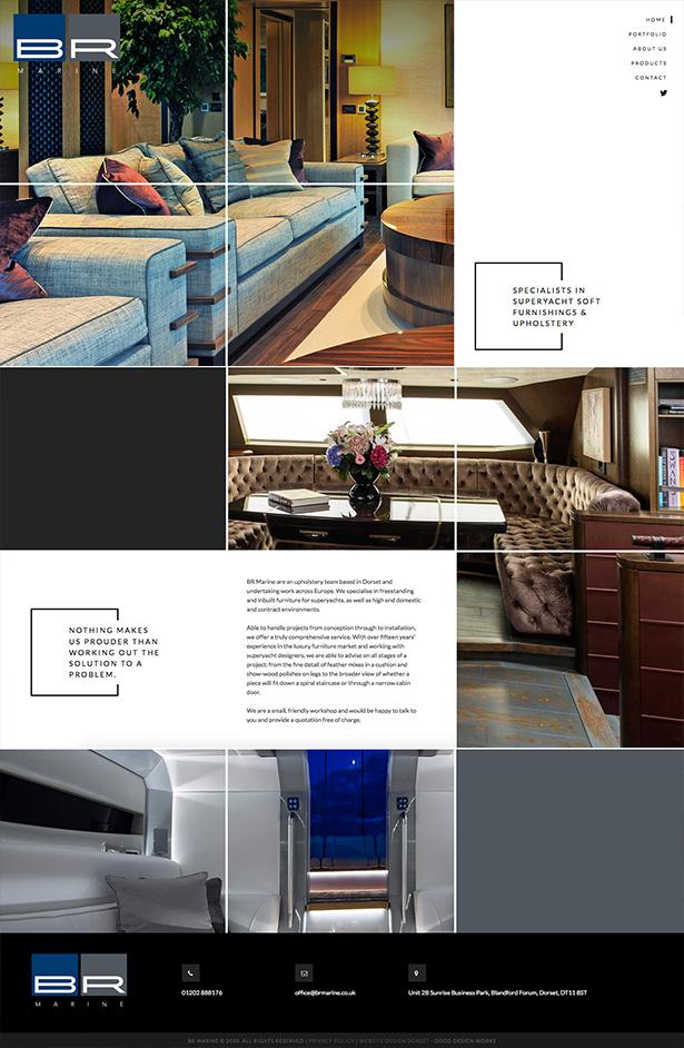 BR Marine Website Design
