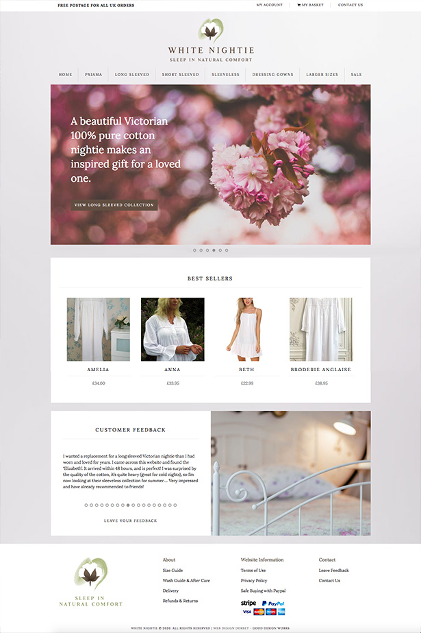 White Nightie Website Design