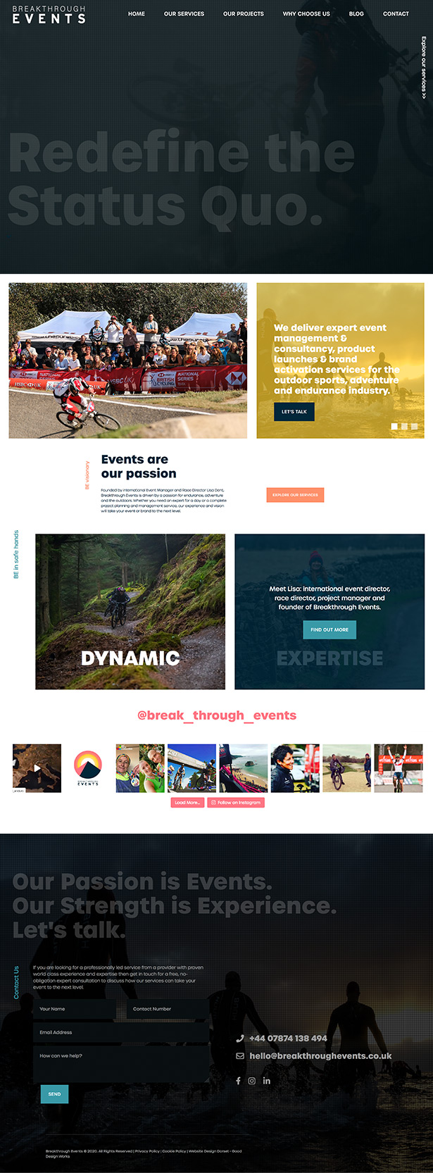 Breakthrough Events Website Design