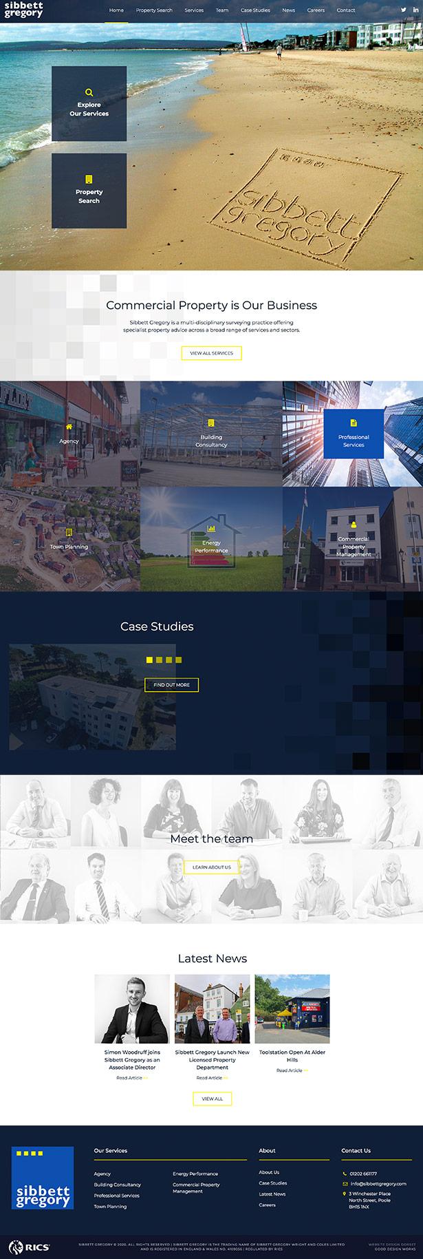 Sibbette Gregory Website Design