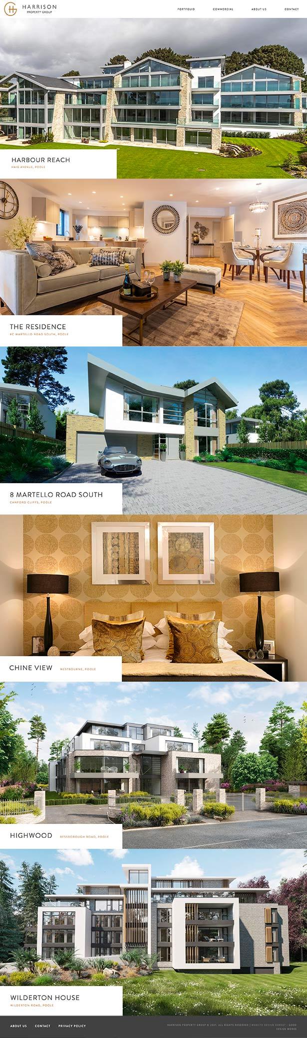 Harrison Property Website Design
