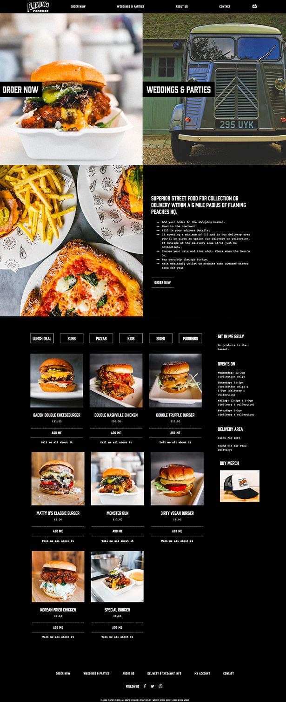 Flaming Peaches Website Design