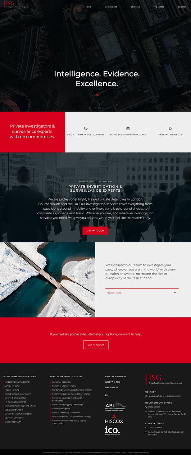 ISG Website Design